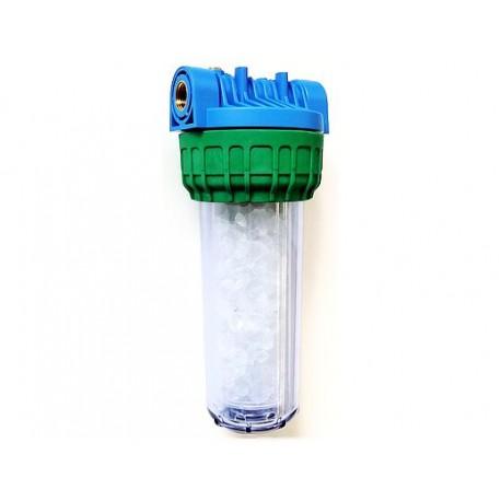 Vodni filter s polnilom za mehčanje vode