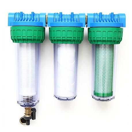Trojni vodni filter EKO TRIPLE SAM, samočistilni za deževnico