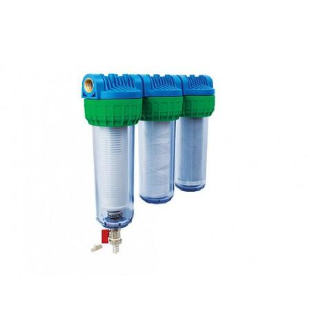 Trojni vodni filter EKO TRIS SAM, samočistilni za vodovodno vodo