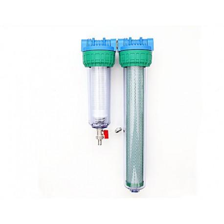 Dvojni vodni filter za vodovodno vodo EKO DUPLEX 20 SAM MAG z magnetnim nevtralizatorjem za vodovodno vodo