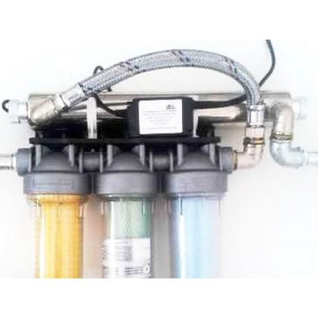 Trojni vodni filter EKO UV SANIC samočistilni z magnetnim nevtralizatorjem in UV sterilizatorjem za deževnico